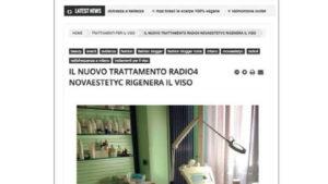 """""""Il nuovo trattamento RADIO4 Novaestetyc rigenera il viso."""""""