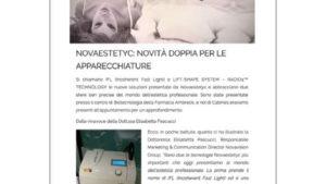 """""""Novaestetyc: novità doppia per le apparecchiature."""""""