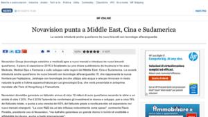 Novavision punta a Middle east, Cina e Sud America